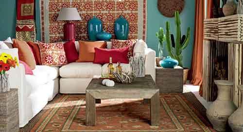 мексиканский стиль в интерьере гостиной
