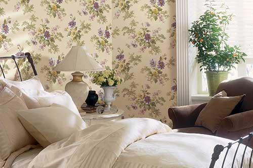 растительные обои для спальни