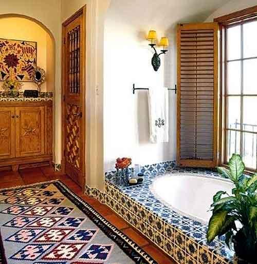 ковры в мексиканском интерьере