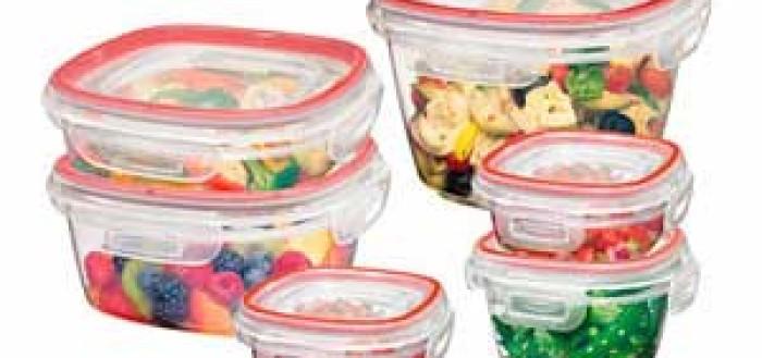 очистить пластиковый контейнер