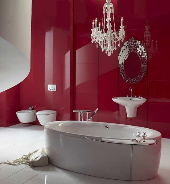 розово-серая ванная комната