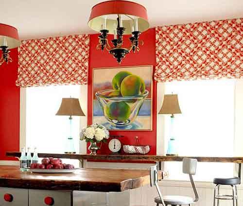 красивые занавески для кухни