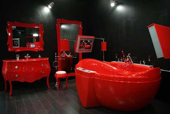 красно-черная ванная