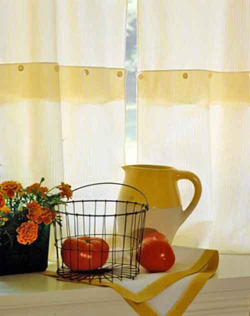 самодельные занавески для кухни