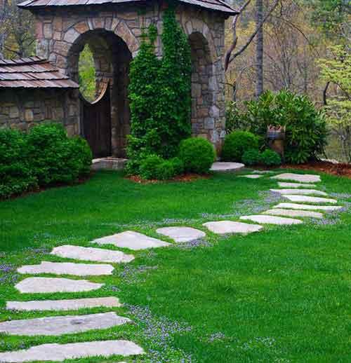 пошаговая дорожка для сада
