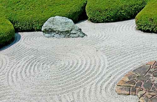 имитация воды в японском саду
