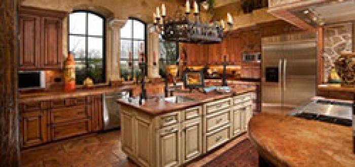 дизайн кухни в тосканском стиле