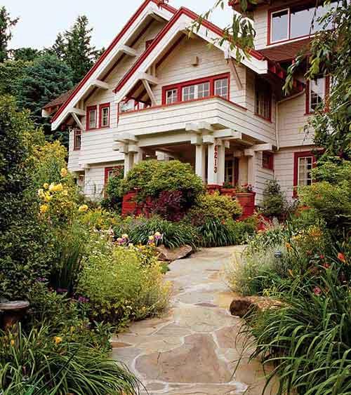дорожка подходит архитектуре дома
