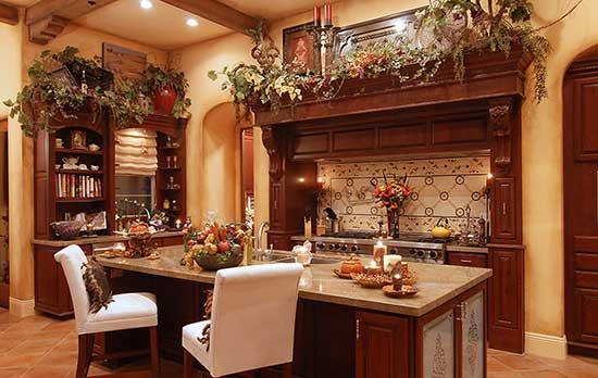 оформление кухни в тосканском стиле