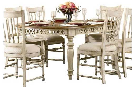 овальный обеденный стол hooker