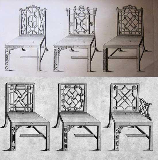 скетчи стульев чиппендейл