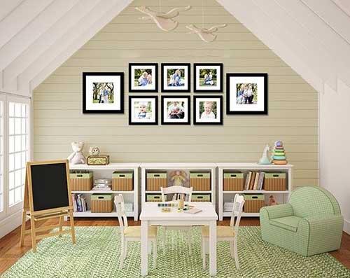 красиво повесить фотографии на стену