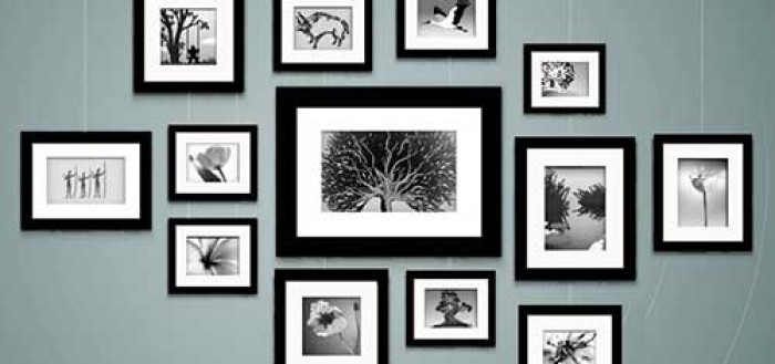 как разместить красиво фотографии на стене