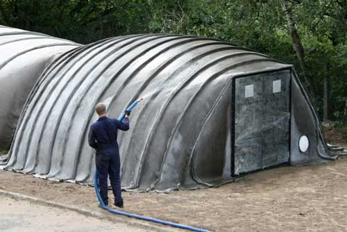 палатка из бетона