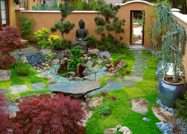 сад в японском стиле ландшафтного  дизайна
