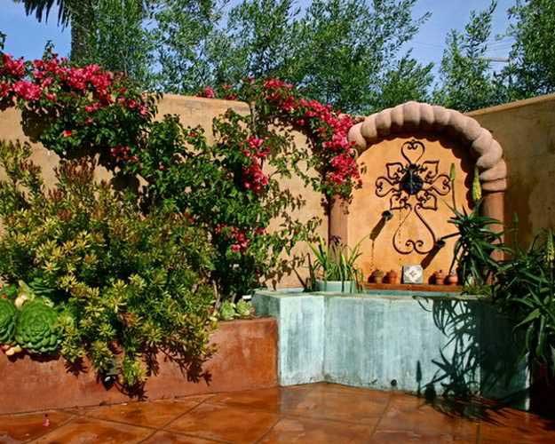 испанский стиль в ландшафтном дизайне