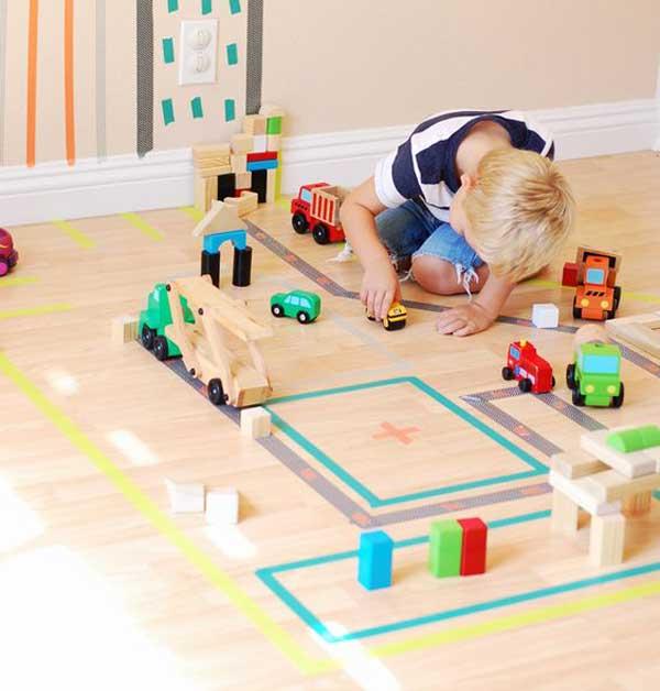 воши тейп (washi tape) идеи для детской  - игровая площадка