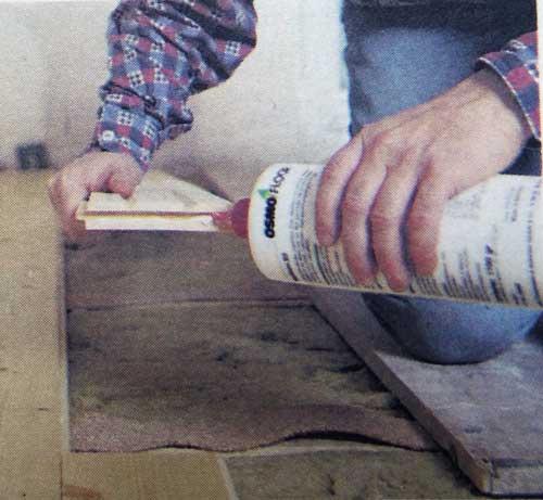 укладка деревянной доски