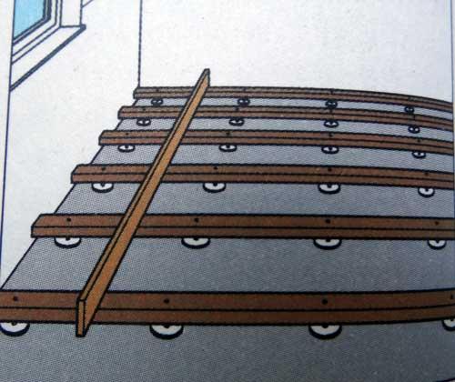 укладка деревянного пола на лаги пошагово