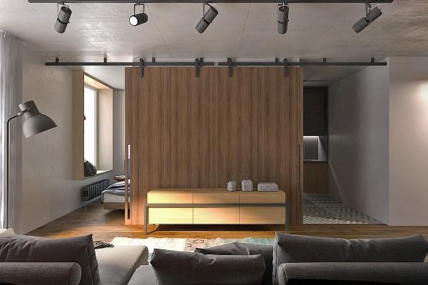 красивый дизайн квартиры студии