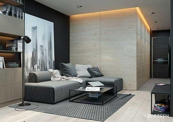 зонирование в интерьере квартиры студии