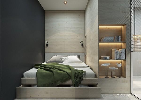 спальное место в квартире студии дизайн